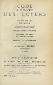 CODE ANNOTÉ DES LOYERS, TEXTE DES LOIS EN VIGUEUR - LOCAUX D'HABITATION - LOCAUX PROFESSIONNELS - RÉVISION DES BAUX DE LONGUE DURÉE - PROPRIÉTÉ COMMERCIALE. n°90-91 du BULLETIN FIDUCIAIRE [et de son supplément le BULLETIN FIDUCIAIRE IMMOBILIER manquant] - Couverture - Format classique