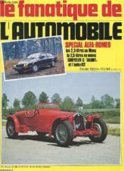 Le Fanatique De L'Automobile N°173 - Special Alfa Romeo - Couverture - Format classique