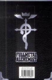 Fullmetal alchemist ; INTEGRALE VOL.10 ; T.20 ET T.21 - 4ème de couverture - Format classique