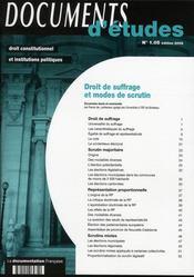Droit de suffrage et modes de scrutin - Intérieur - Format classique