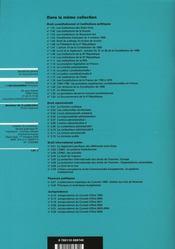 Droit de suffrage et modes de scrutin - 4ème de couverture - Format classique