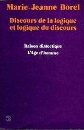 Discours Logique Et Logique Discours - Couverture - Format classique