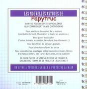 Les Nouvelles Astuces De Papytruc ; Toutes Les Reponses Aux Problemes Quotidiens - 4ème de couverture - Format classique