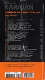 Christoph Willibald von Gluck : Orphée et Eurydice - 4ème de couverture - Format classique