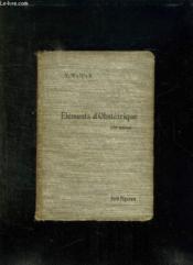 ELEMENTS D OBSTETRIQUE. 3em EDITION. - Couverture - Format classique
