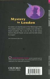 Mystery in london - 4ème de couverture - Format classique
