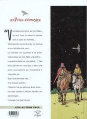 Les 7 vies de l'épervier t.6 ; la part du diable - 4ème de couverture - Format classique