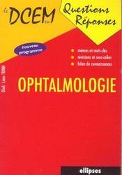 Ophtalmologie Nouveau Programme - Intérieur - Format classique