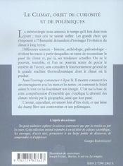 Le Climat Objet De Curiosite Et De Polemiques No37 - 4ème de couverture - Format classique