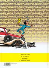 Garage Isidore t.2 ; j'ai un bruit - 4ème de couverture - Format classique