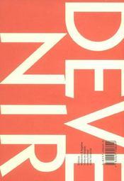 Devenir Vol 15 N 4 2003 - 4ème de couverture - Format classique