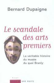 Le scandale des arts premiers - Intérieur - Format classique