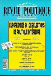 Europeennes 94 Elections - Couverture - Format classique