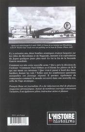Hiroshima - 4ème de couverture - Format classique