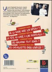 Le petit chimiste gourmand en cuisine ; 30 recettes et expériences à faire en famille - 4ème de couverture - Format classique