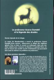 Le professeur Acarus Dumdell et la légende des druides - 4ème de couverture - Format classique