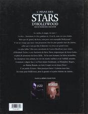 Atlas des stars d'hollywood - 4ème de couverture - Format classique