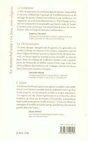 Monotheisme - 4ème de couverture - Format classique
