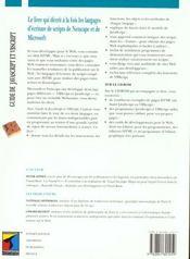 Guide de javascript et vb script - 4ème de couverture - Format classique