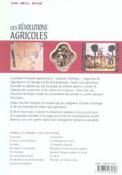 Les revolutions agricoles - 4ème de couverture - Format classique