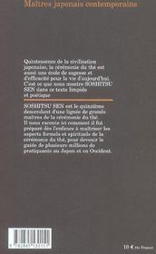 Vie du the, esprit du the - 4ème de couverture - Format classique