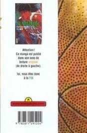 Slam Dunk T22 - 4ème de couverture - Format classique