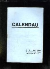 Calendau N° 5 Juin 1933. Discours Dou Capoulie A La Santo Estello De Touloun. - Couverture - Format classique