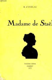Madame De Stael - Couverture - Format classique