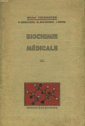 Biochimie Medicale. - Couverture - Format classique