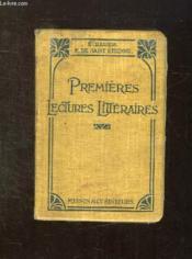 PREMIERES LECTURES LITTERAIRES AVEC NOTES ET NOTICES. 19em EDITION. - Couverture - Format classique