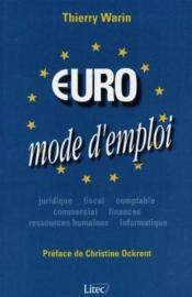 Euro, mode d'emploi - Couverture - Format classique