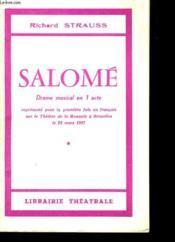Salome - Drame Musical En 1 Acte - Couverture - Format classique