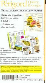 Guides Vacances ; Perigord Quercy - 4ème de couverture - Format classique