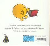 Monsieur Heureux et le magicien - 4ème de couverture - Format classique