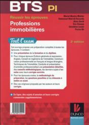 BTS ; réussir le BTS professions immobilières (2e édition) - 4ème de couverture - Format classique