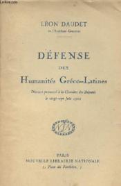 Défense des humanités Gréco-Latines - Discours prononcé à la Chambre des Députés le 27 juin 1922 - Couverture - Format classique