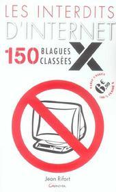 Les interdits d'internet ; 150 blagues classees x - Intérieur - Format classique
