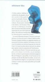 Infiniment Bleu - 4ème de couverture - Format classique