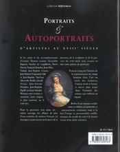 Portraits Et Autoportraits D'Artistes Au Xviii Siecle - 4ème de couverture - Format classique