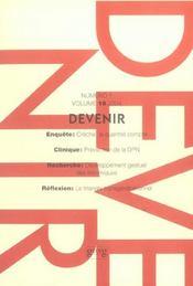 Devenir T.16 N.1 ; 2004 - Intérieur - Format classique