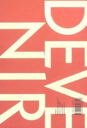 Devenir T.16 N.1 ; 2004 - 4ème de couverture - Format classique