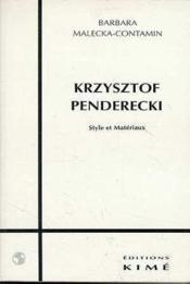Krzysztof Penderecki - Couverture - Format classique