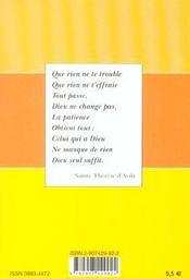 Sainte therese d'avila - 4ème de couverture - Format classique