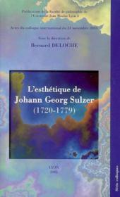 Esthétique de johann georg sul - Couverture - Format classique