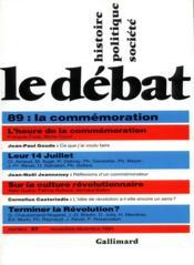 Revue Le Débat N.57 ; novembre-décembre 1989 - Couverture - Format classique
