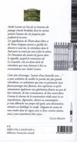 AUTOUR D'UNE BOUTEILLE AVEC ; André Lurton - 4ème de couverture - Format classique