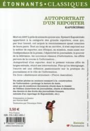 Autoportrait d'un reporter - 4ème de couverture - Format classique