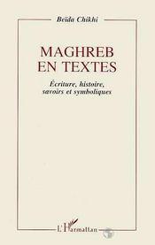 Maghreb En Textes - Intérieur - Format classique