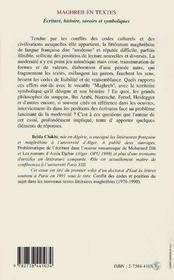 Maghreb En Textes - 4ème de couverture - Format classique