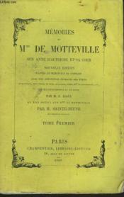 MEMOIRES DE Mme DE MOTTEVILLE SUR ANNE D'AUTRICHE ET SA COUR, TOME I. - Couverture - Format classique